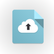 cloud with up arrow, an illustration of uploading or rolling out software to production (round circle with cloud up arrow)