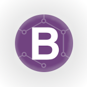 Bootstrap Image, an illustration of the Bootrap framework (round image with capitol B)
